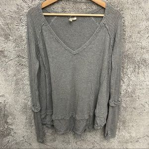 Free People We the Free  Distressed Long Sleeve